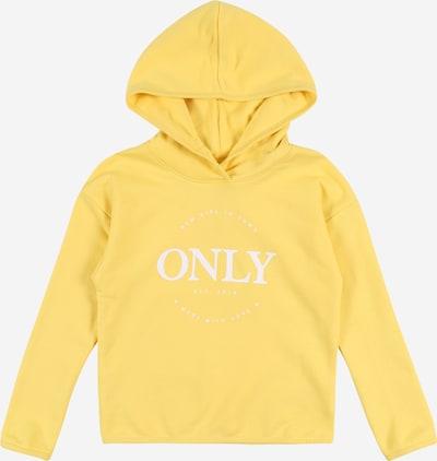 KIDS ONLY Sweatshirt 'Konneo' in gelb / weiß, Produktansicht