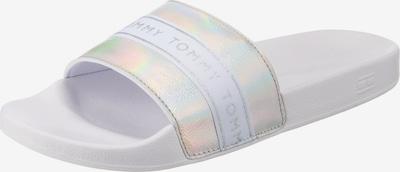 TOMMY HILFIGER Pantolette in silber / weiß, Produktansicht
