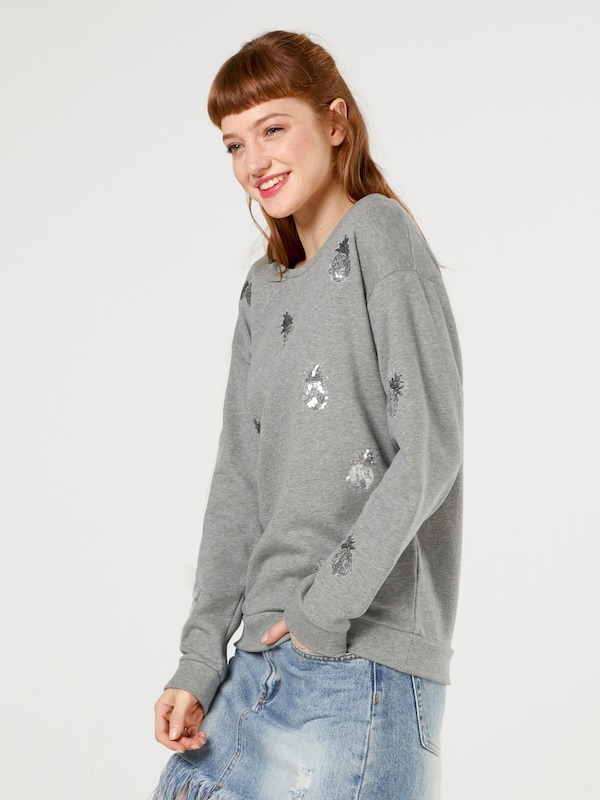 Tees 'make Gris Sweat shirt Me En Chiné Happy' Twenty mv80NnwO