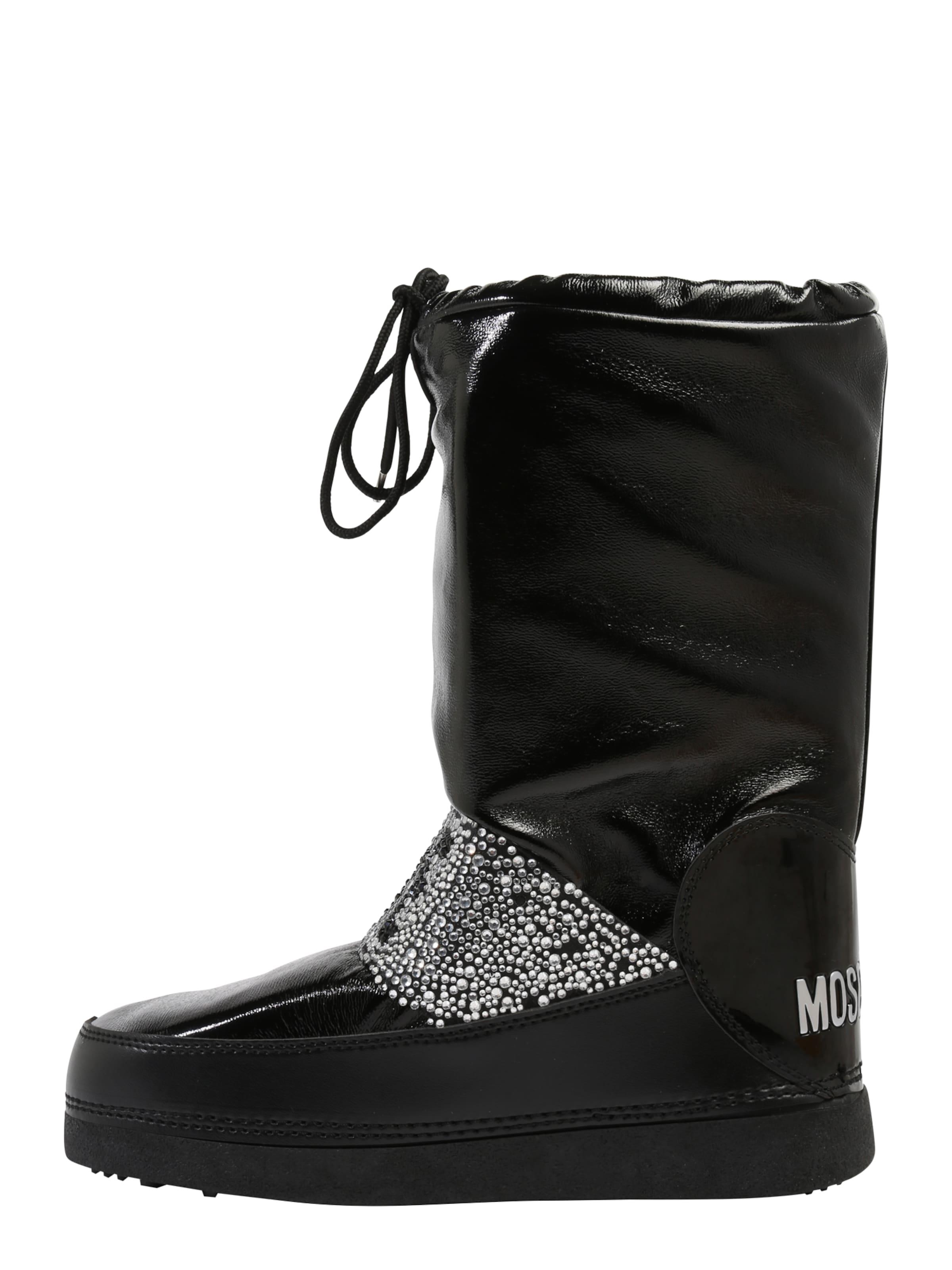 Noir En 'ski Boot' ski Moschino Après Love 4q3jLcRA5