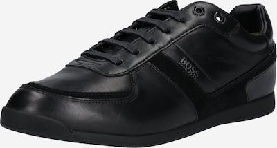 BOSS Baskets basses 'Glaze' en noir, Vue avec produit