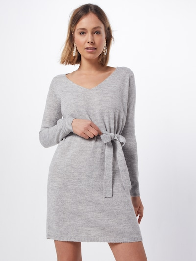 VILA Kleid 'VISURIL' in hellgrau, Modelansicht