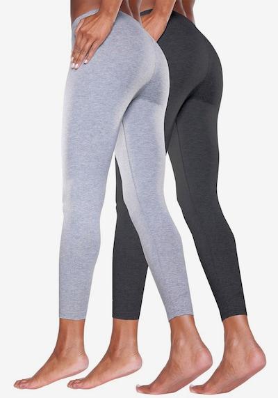 VIVANCE Leggings en gris clair / noir, Vue avec modèle