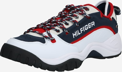 Tommy Jeans Sneaker 'HERITAGE' in dunkelblau / rot / weiß, Produktansicht