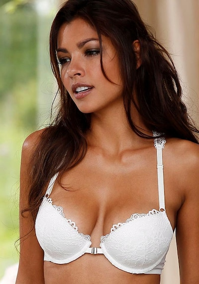 LASCANA Push-up-BH in weiß, Modelansicht
