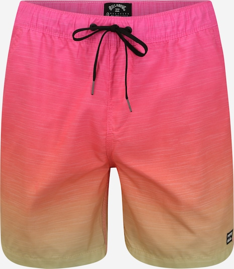 BILLABONG Badehose 'All Day Faded' in gelb / orange / pink, Produktansicht