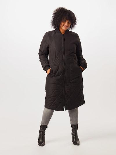 ONLY Carmakoma Płaszcz przejściowy 'CARCARROT' w kolorze czarnym: Widok z przodu