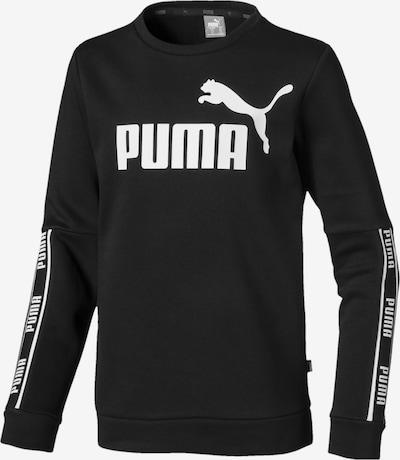 PUMA Sweatshirt 'Amplified Crew' in schwarz / weiß, Produktansicht