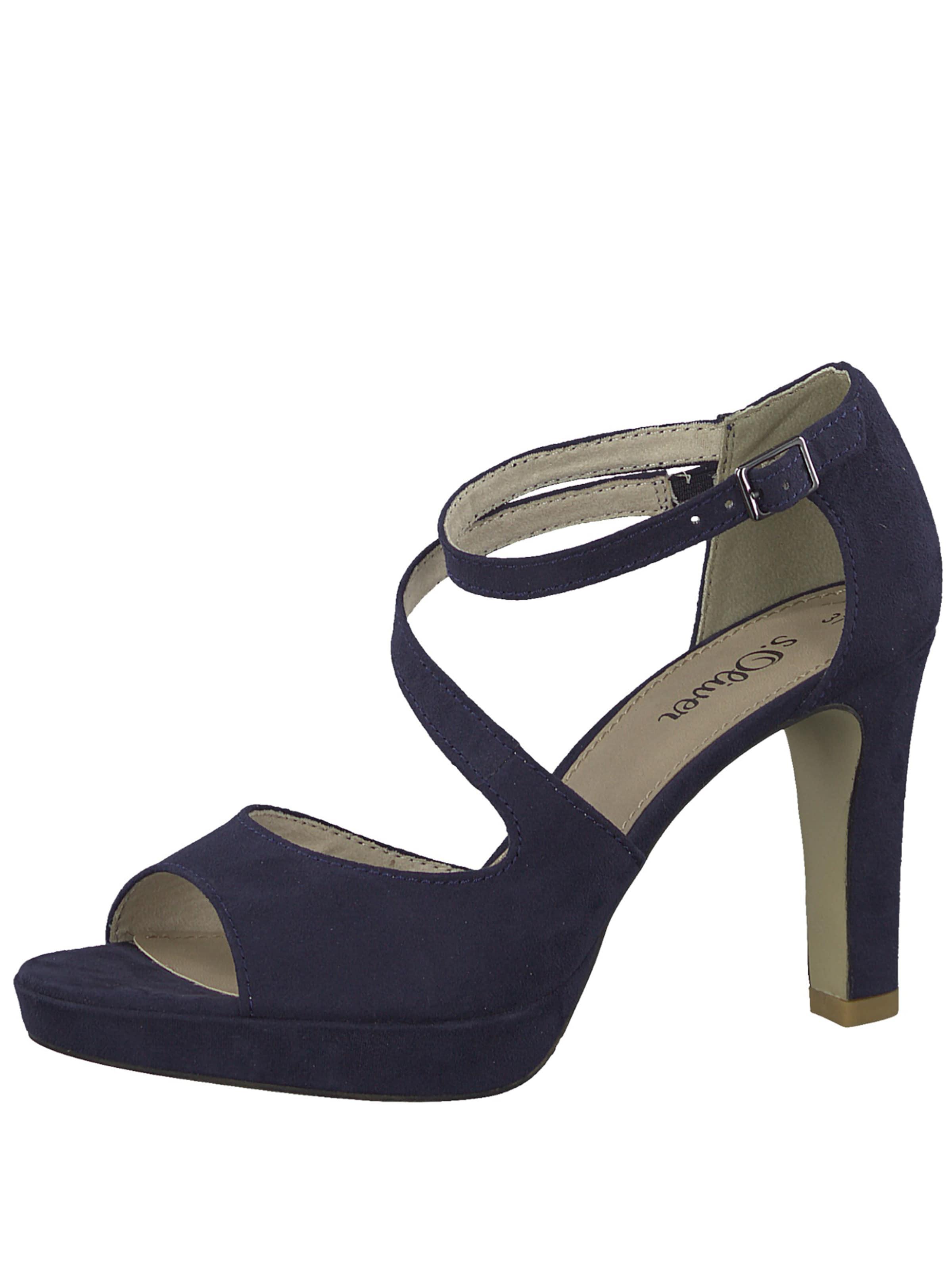 À 'strappy S Red Label oliver Lanières Heel' En Sandales Bleu Marine Ybyv76gf