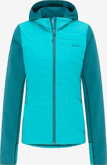 PYUA Outdoorjas 'Blaze' in de kleur Turquoise, Productweergave