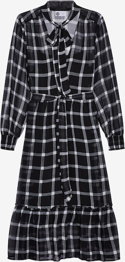 Miss Selfridge Šaty 'CHECK SMOCK MID DRS' - čierna / biela, Produkt