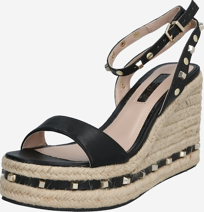 Miss Selfridge Sandale 'WHIZZER Black Stud Wedges' in schwarz, Produktansicht