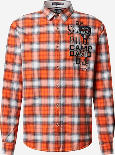 CAMP DAVID Hemd in orange / weiß, Produktansicht