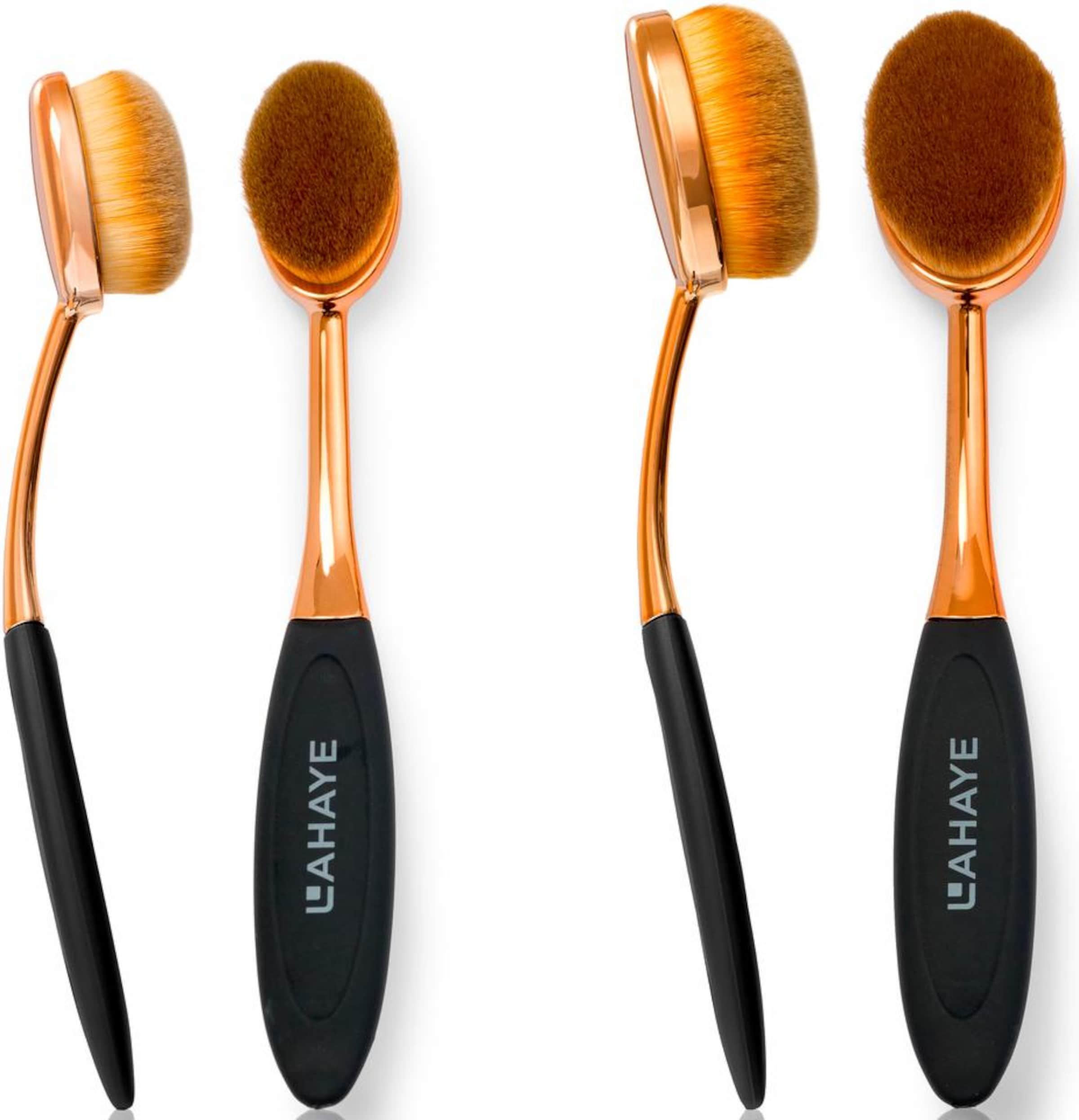 L'AHAYE 'Make-up Brush Set Oval', Pinselset (2-tlg.)