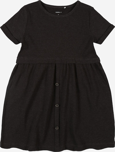 NAME IT Kleid 'RIBSA' in anthrazit: Frontalansicht