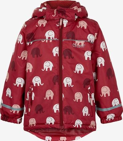 CELAVI Jacke in pink / blutrot / weiß, Produktansicht