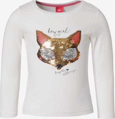 s.Oliver Junior Langarmshirt in weiß, Produktansicht