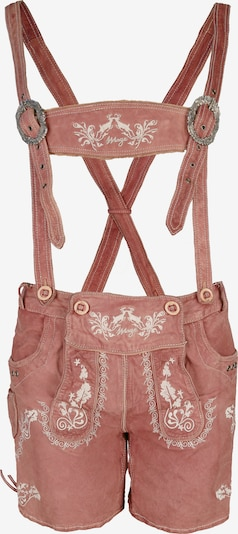 Maze Trachtenhose 'Beuren' in rosé / weiß, Produktansicht