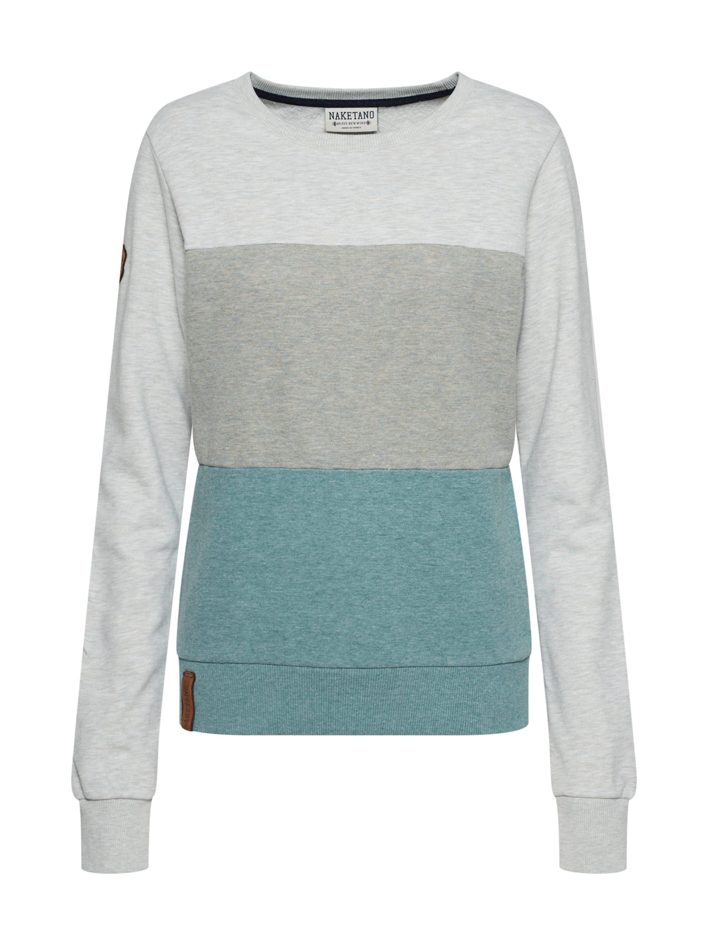 Naketano En shirt AquaBleu Vert 'arschfritöse' Sweat Pastel SqzMpLjUVG