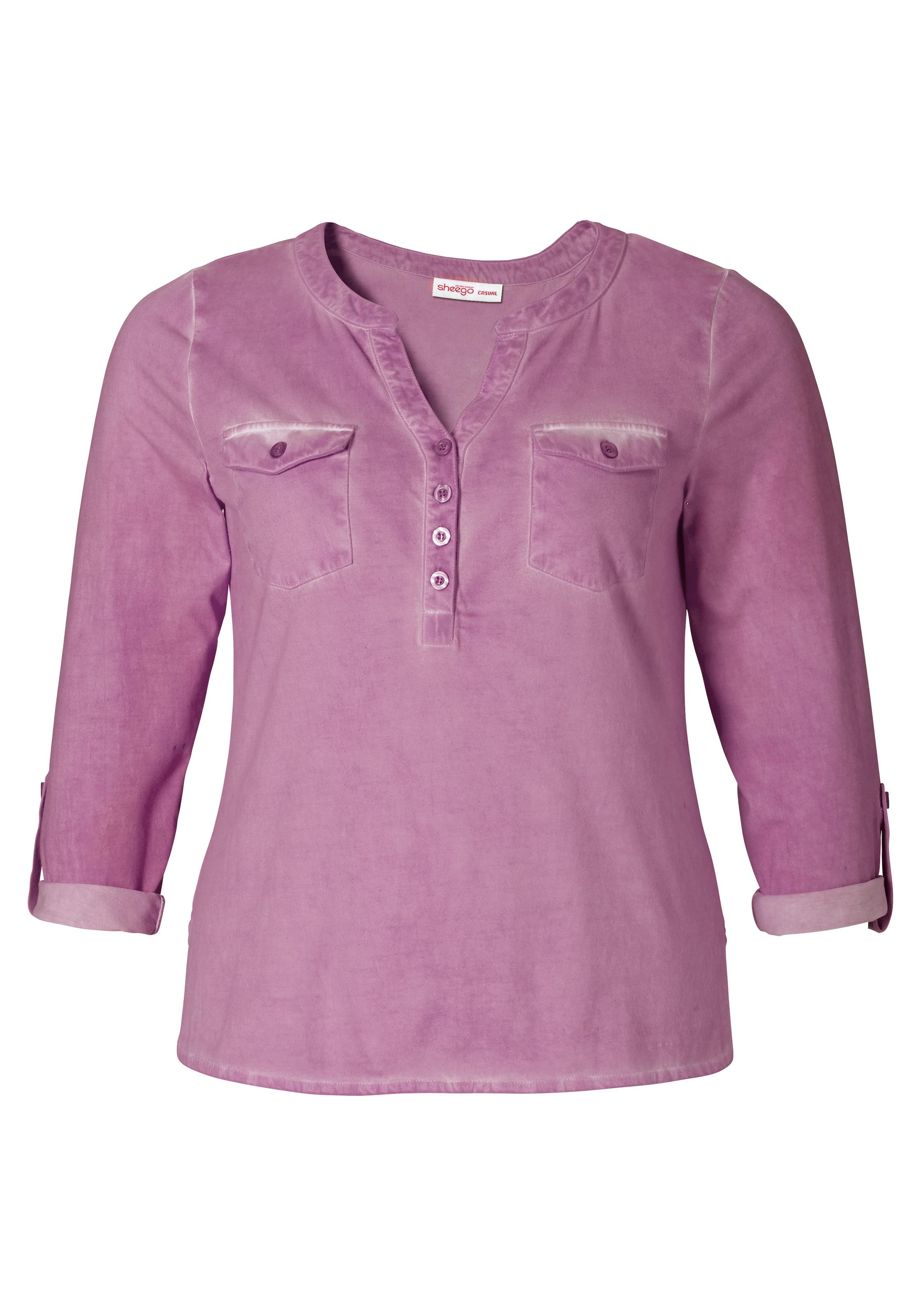sheego casual Shirt in ausgewaschener Optik Günstig Kaufen Neue Stile Fälschen Zum Verkauf Spielraum Spielraum Store Freies Verschiffen Neuestes HgBTA
