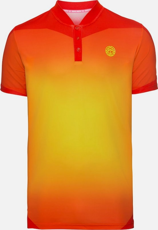 BIDI BADU Poloshirt 'Belay Tech' in gelb / orange / rot, Produktansicht