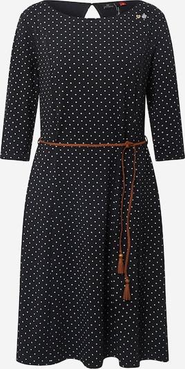 Ragwear Kleid 'Zenity B' in braun / schwarz / weiß: Frontalansicht