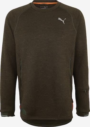 PUMA Sportsweatshirt 'N.R.G. Actum' in de kleur Kaki, Productweergave