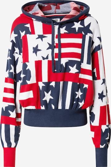 Tommy Jeans Sweatshirt in navy / mischfarben / hellrot / weiß, Produktansicht