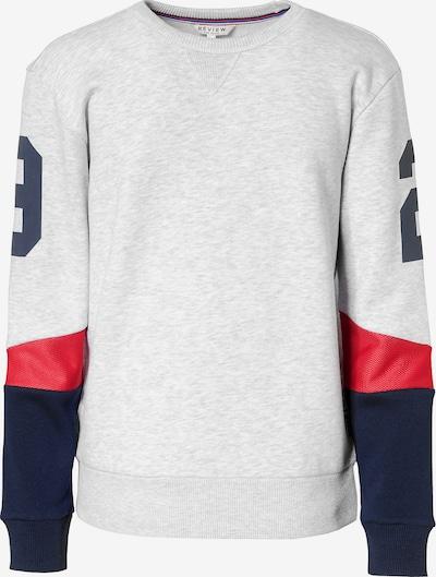 REVIEW FOR TEENS Sweatshirt in nachtblau / graumeliert / rot, Produktansicht
