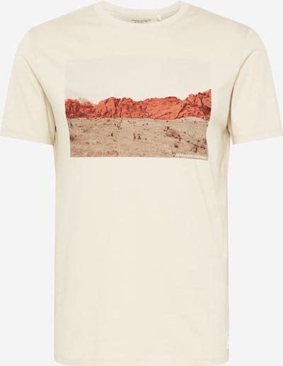 Marc O'Polo DENIM T-Shirt in beige / braun / rot, Produktansicht