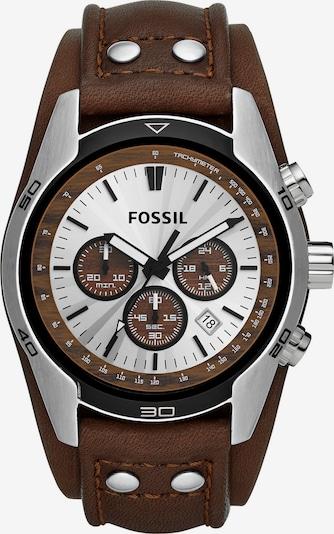 FOSSIL Armbanduhr in dunkelbraun / anthrazit / silber, Produktansicht