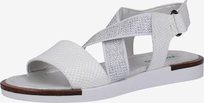veganino Sandale in silber / weiß, Produktansicht