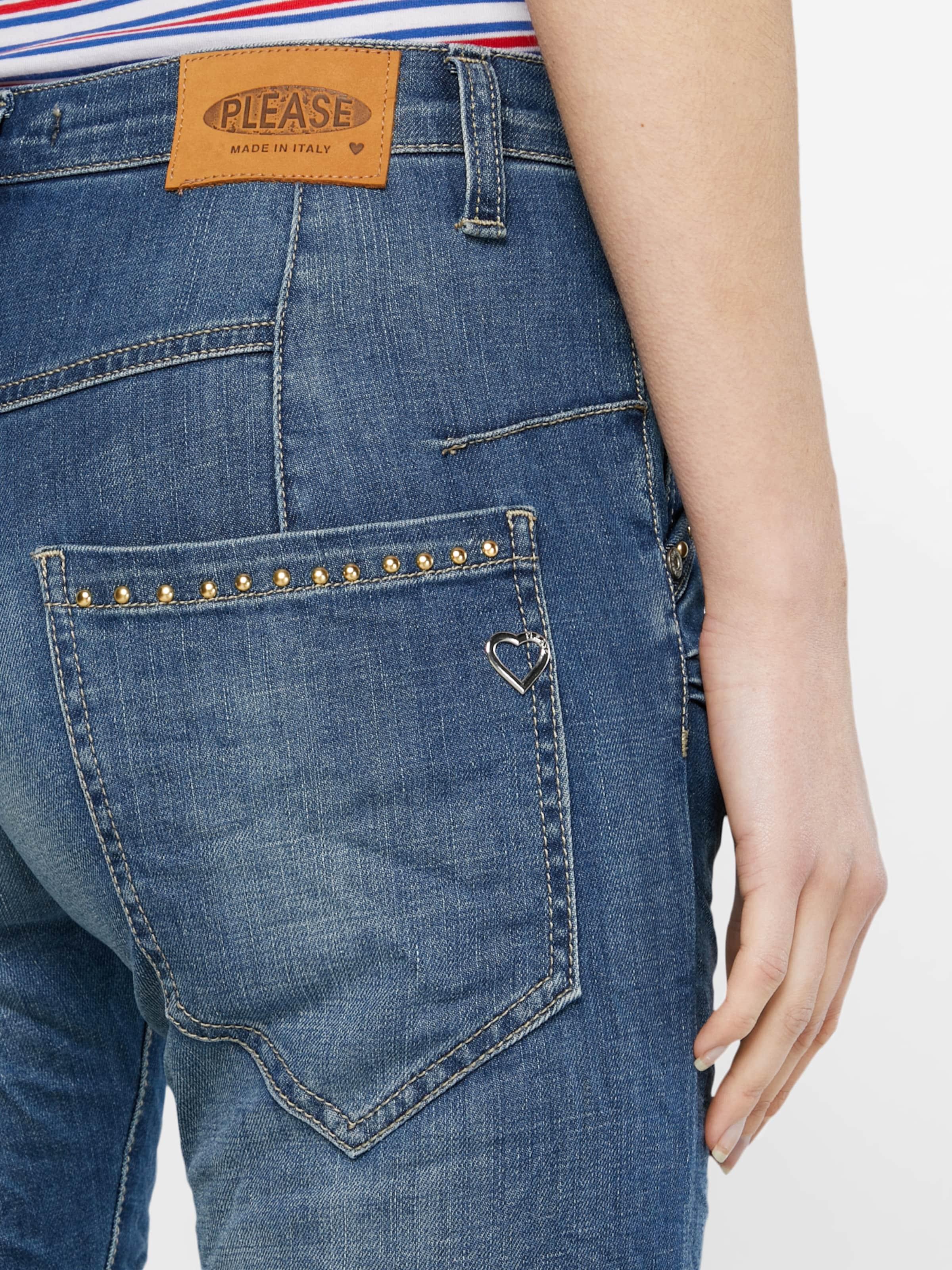 PLEASE Loosefit Jeans mit Crinkle-Effekt Billige Angebote Vorbestellung Outlet Top-Qualität Billig Verkauf Finden Große Günstiger Preis Großhandelspreis NGYw59Qu