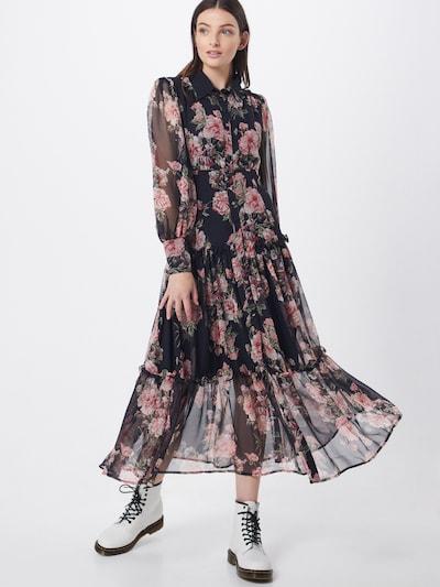 Bardot Kleid 'Navy Floral' in pink / rosa / schwarz, Modelansicht