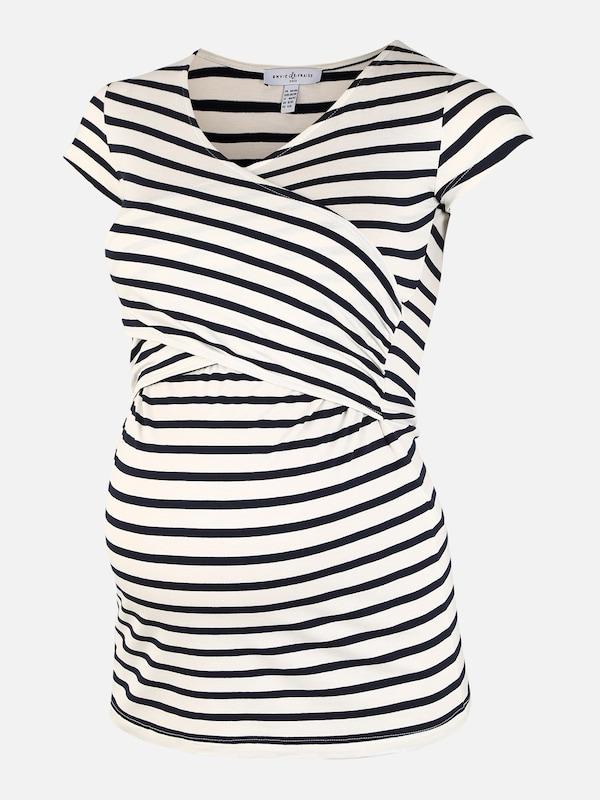 Envie de Fraise Still-Shirt 'FIONA' in schwarz / weiß