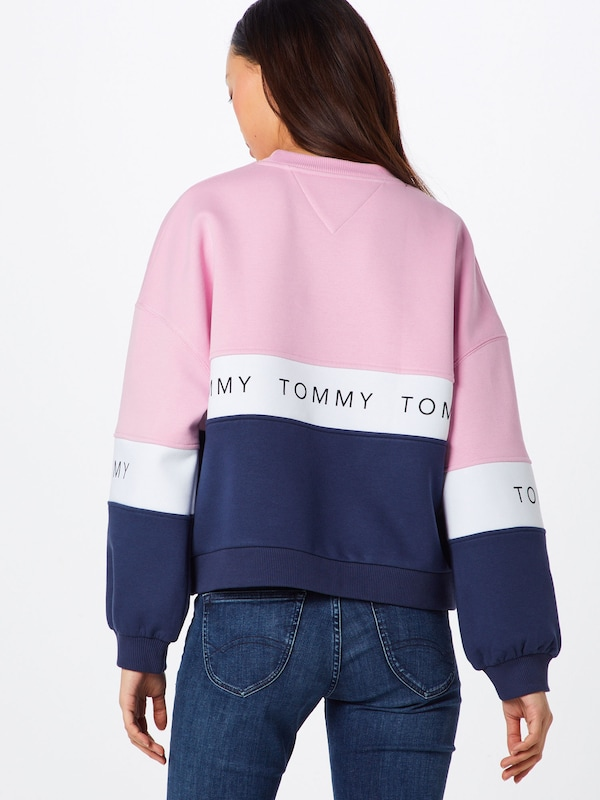 Sweat Bleu shirt En 'tjw MarineRose Tommy Jeans Colorblock' Blanc RjL5A4