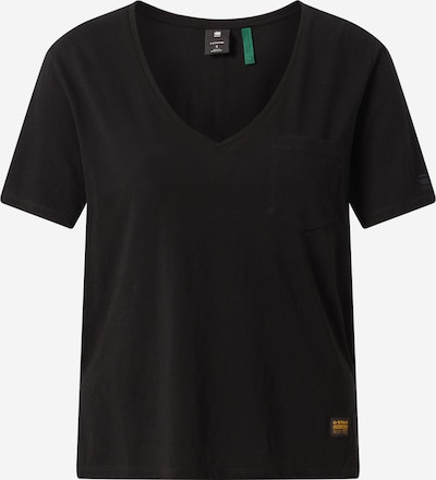 G-Star RAW T-shirt 'Ovvela' en noir: Vue de face