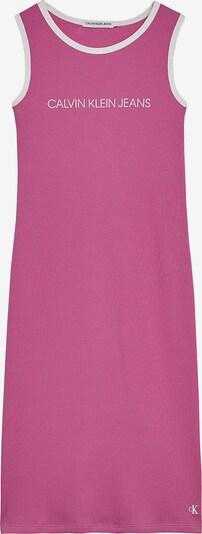Calvin Klein Jeans Kleid in dunkelpink / weiß, Produktansicht