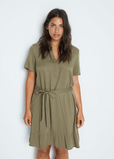 VIOLETA by Mango Kleid in khaki, Modelansicht
