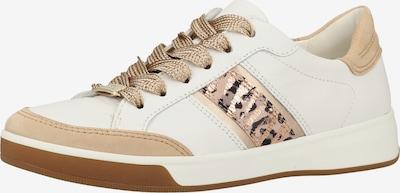 ARA Sneaker in beige / weiß: Frontalansicht