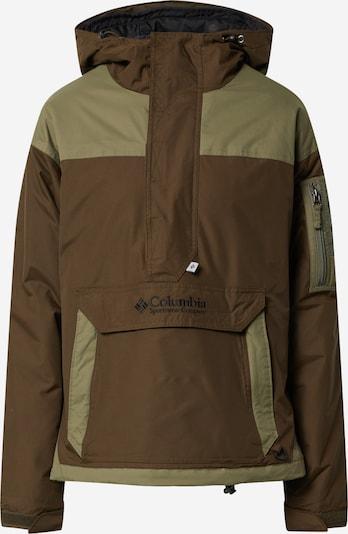 COLUMBIA Veste outdoor en brun foncé / vert, Vue avec produit