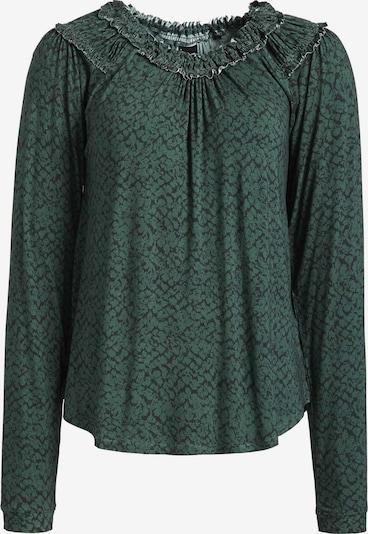 khujo Longsleeve 'Srala' in grün / dunkelgrün, Produktansicht
