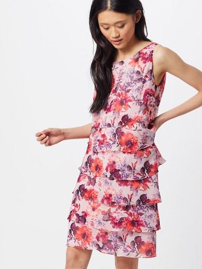 Vera Mont Kleid in lila / rosé / orangerot, Modelansicht