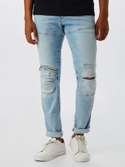 G-Star RAW Jean '5620 3D Zip Knee Super Slim' en bleu denim: Vue de face