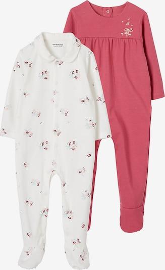 VERTBAUDET Schlafanzug , Doppelpack in pink / weiß, Produktansicht