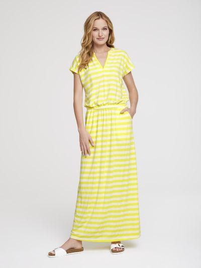 heine Robe d'été en jaune clair / blanc, Vue avec modèle