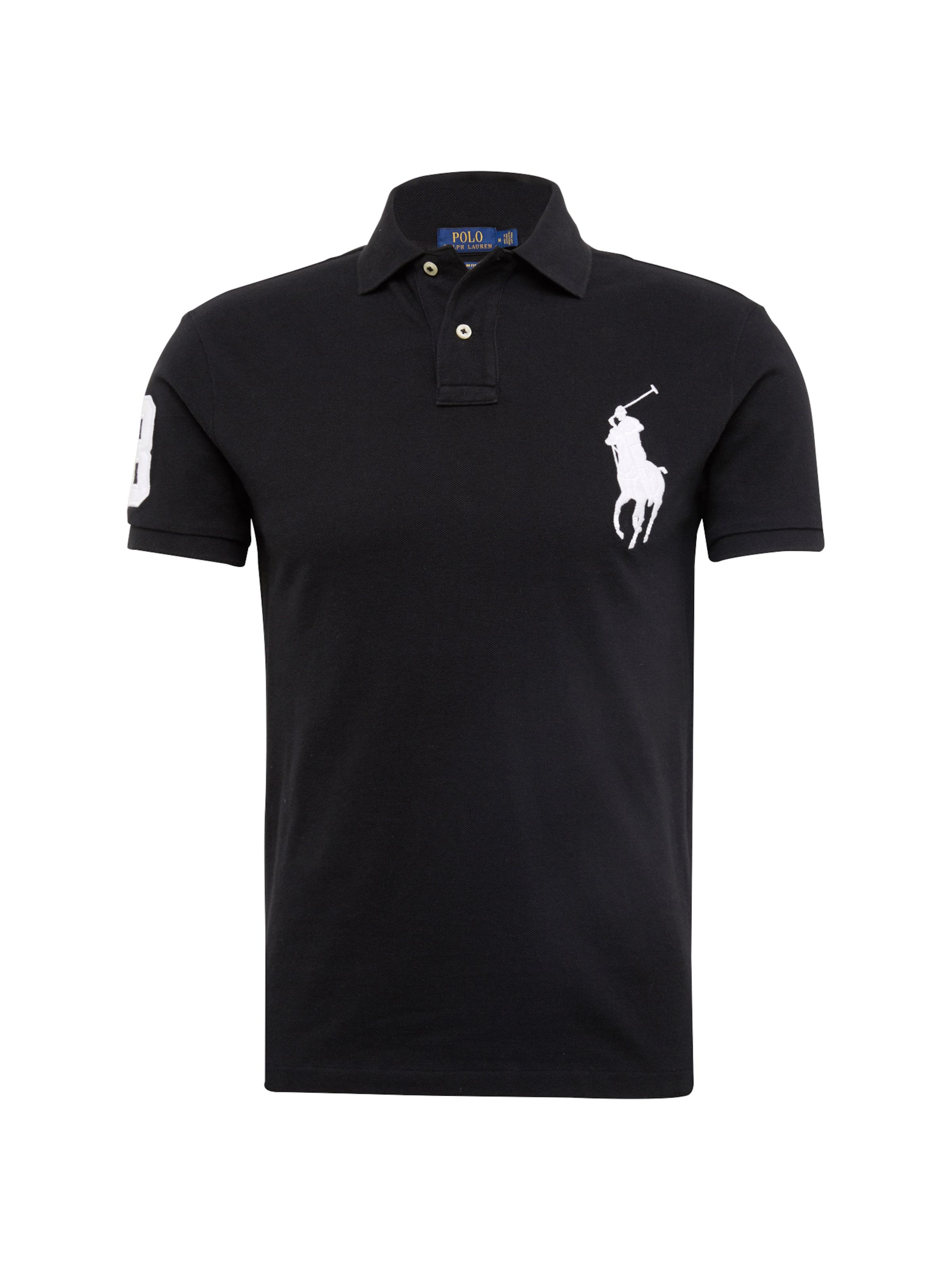 Polo shirt Ralph Sleeve 'sskcbppslm T Lauren short En Noir knit' EDH9W2I