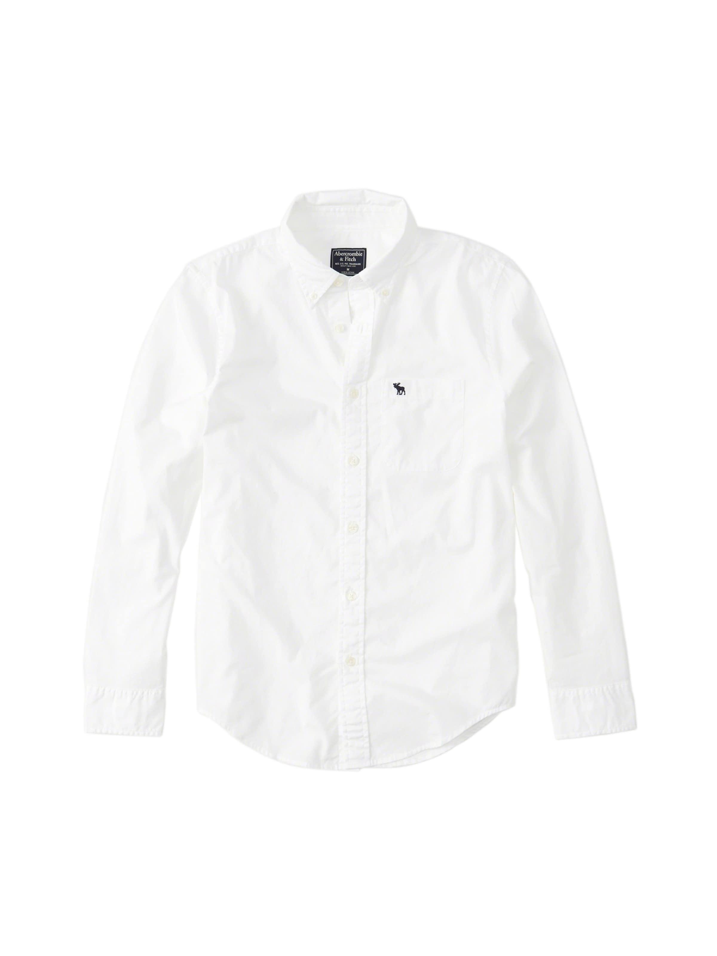 Fitch 3cc' In 'poplin Weiß Abercrombieamp; Hemd Shirt UVGSzMqp