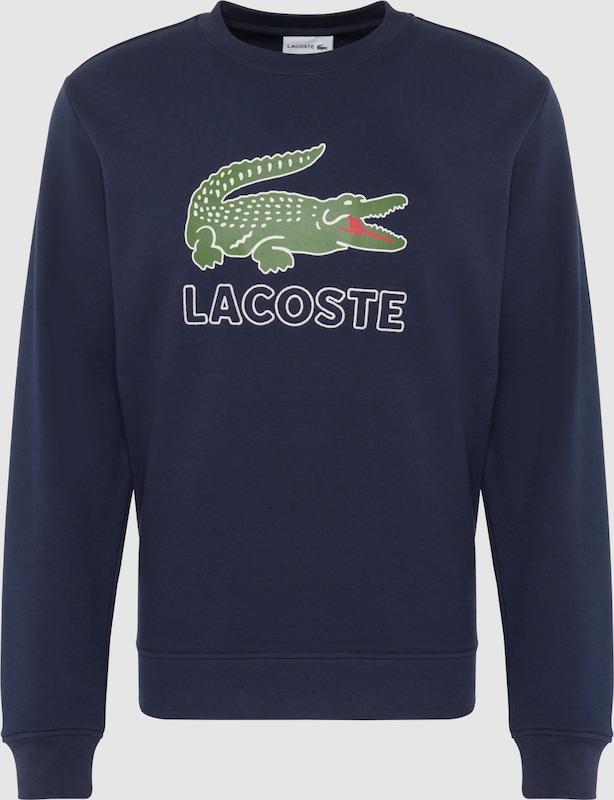 LACOSTE Sweatshirt in nachtblau   grasgrün  Neue Kleidung in dieser Saison