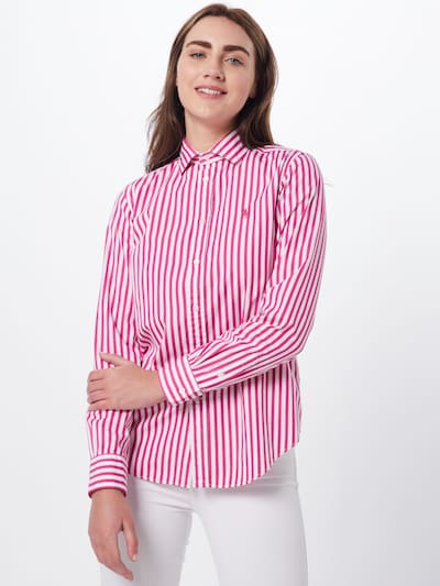 POLO RALPH LAUREN Bluse 'EST GEORGIA' in pink / weiß, Modelansicht